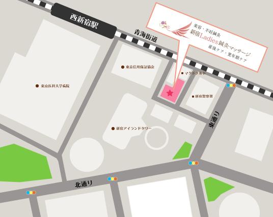 新宿Ladies鍼灸マッサージ地図